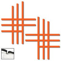 2 SANGLES NERF BAR UNIVERSELLES ORANGE FLUO (HOMOLOGUEES FFM)